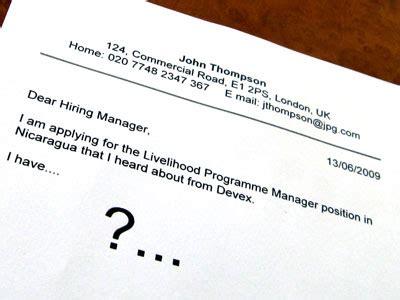 Sample cover letter for internship social services